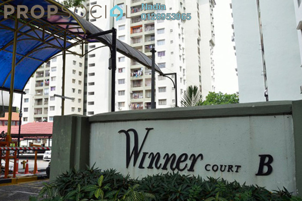For Rent Apartment at Winner Court B, Desa Petaling Leasehold Semi Furnished 3R/2B 1.1k