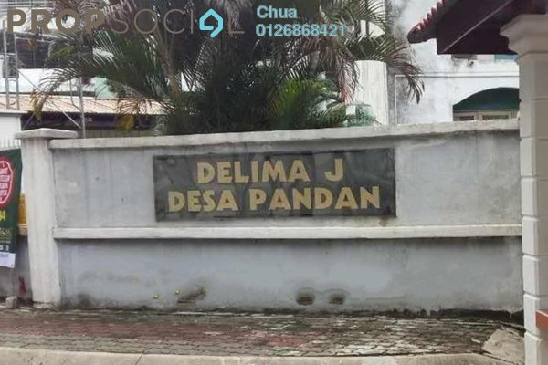For Rent Apartment at Delima Apartment, Desa Pandan Leasehold Unfurnished 3R/2B 1.3千
