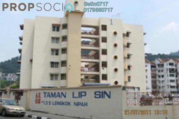 For Sale Apartment at Taman Lip Sin, Sungai Nibong Freehold Semi Furnished 3R/2B 350k