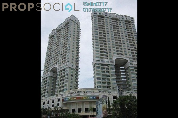 For Rent Condominium at Plaza Ivory, Bukit Gambier Freehold Semi Furnished 3R/2B 1.4k