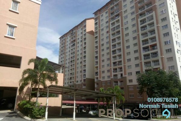 For Sale Apartment at Lakeview Apartment, Batu Caves Leasehold Unfurnished 3R/2B 275k