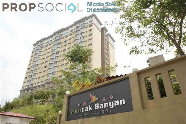 For Rent Condominium at Puncak Banyan, Cheras Freehold Semi Furnished 3R/2B 1.2k