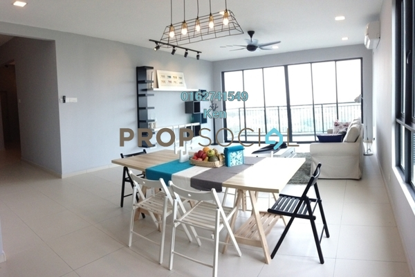 For Sale Condominium at Zefer Hill Residence, Bandar Puchong Jaya Freehold Fully Furnished 4R/4B 1.14m