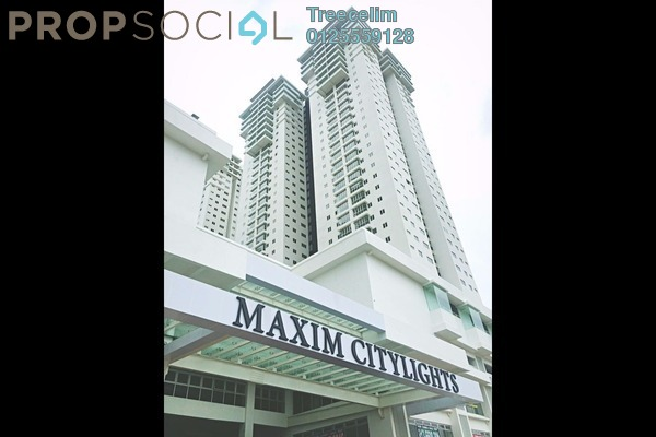 For Rent Serviced Residence at Maxim Citilights, Sentul Leasehold Semi Furnished 2R/2B 1.2k