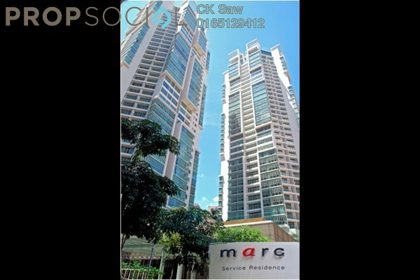 For Rent Condominium at Marc Service Residence, KLCC Freehold Fully Furnished 2R/1B 4.7k