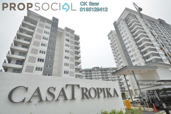 For Sale Condominium at Casa Tropika, Puchong Leasehold Unfurnished 3R/2B 410k