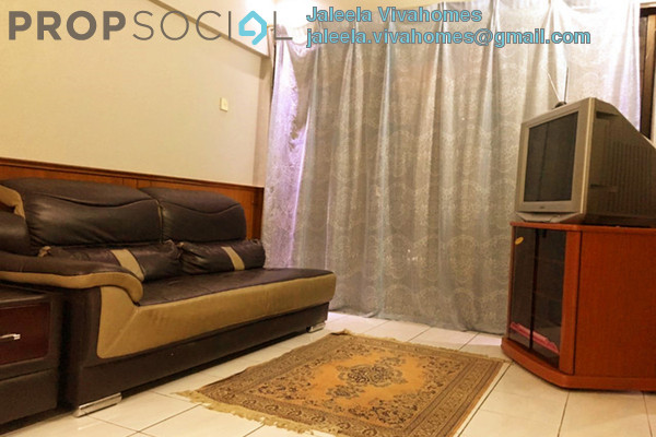 For Rent Apartment at Taman Tadisma, Shah Alam Freehold Semi Furnished 3R/2B 1.55k