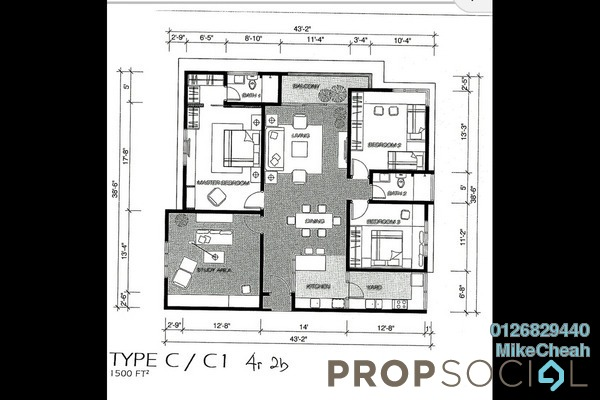 For Sale Condominium at Platinum Hill PV2, Setapak Freehold Unfurnished 4R/2B 790k