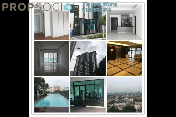 For Rent Condominium at 100 Residency, Setapak Freehold Semi Furnished 4R/3B 2.6k