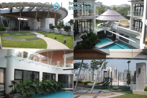 For Rent Condominium at Gallery U-Thant, Ampang Hilir Freehold Semi Furnished 3R/4B 11.8k
