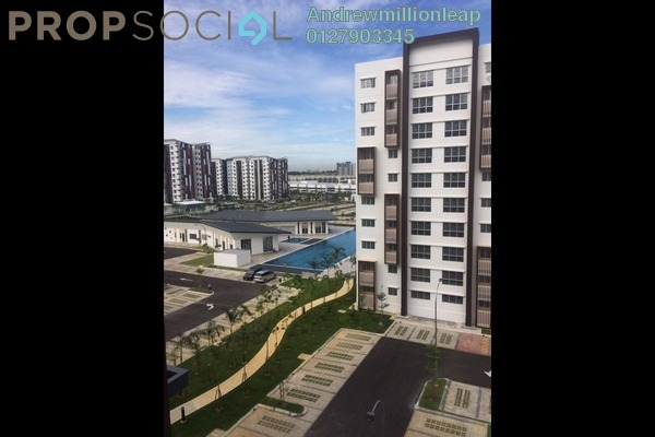 For Sale Apartment at Seri Mutiara, Setia Alam Freehold Semi Furnished 3R/2B 330k
