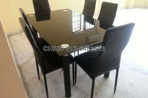 For Sale Apartment at Desa Dua, Kepong Leasehold Semi Furnished 3R/2B 265k