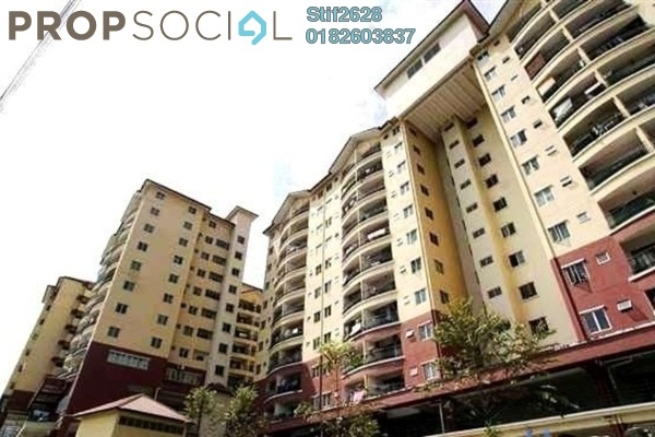 For Sale Condominium at Mandy Villa, Segambut Leasehold Semi Furnished 3R/2B 390k