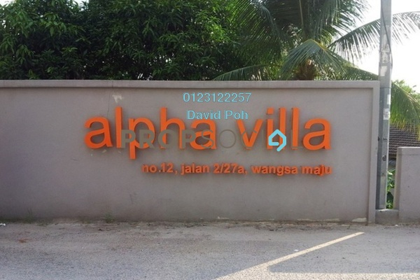 For Rent Condominium at Alpha Villa, Wangsa Maju Leasehold Unfurnished 4R/2B 1.4k