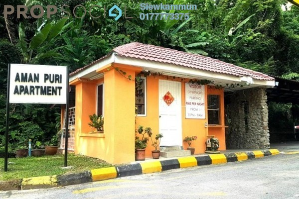 For Rent Apartment at Aman Puri, Kepong Freehold Semi Furnished 3R/2B 1k