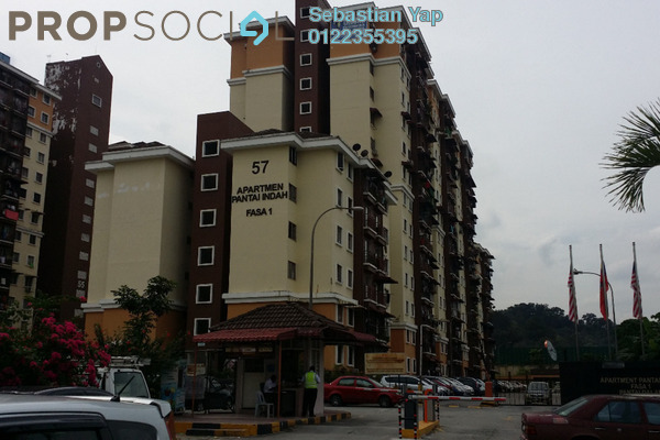 For Rent Apartment at Pantai Indah Apartment, Pantai Leasehold Unfurnished 3R/2B 1.1k