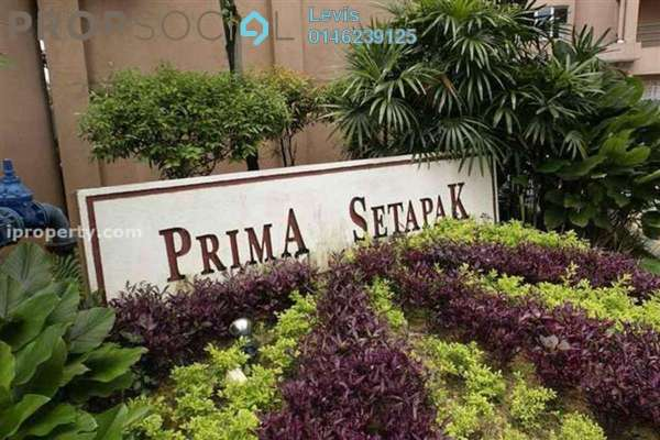 For Sale Condominium at Prima Setapak I, Setapak Leasehold Semi Furnished 3R/2B 470k