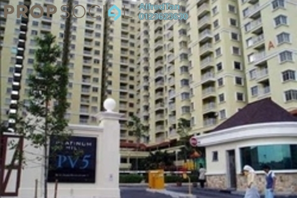 For Rent Condominium at Platinum Hill PV5, Setapak Freehold Fully Furnished 4R/2B 1.85k