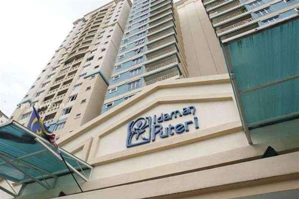 For Sale Condominium at Idaman Puteri, Setapak Leasehold Semi Furnished 3R/3B 525k