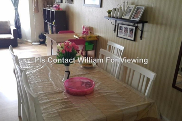 For Sale Apartment at Melati Impian, Gombak Leasehold Fully Furnished 3R/2B 320k