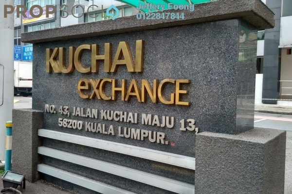 For Rent Office at Kuchai Exchange, Kuchai Lama Freehold Unfurnished 0R/1B 2.8k