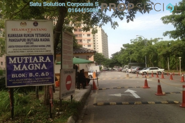 For Sale Apartment at Mutiara Magna, Kepong Leasehold Semi Furnished 3R/2B 180k