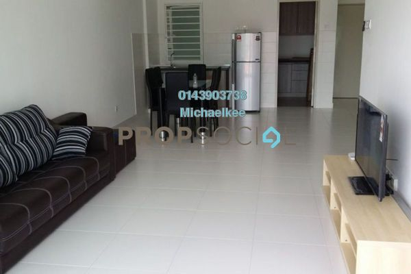 For Rent Condominium at Casa Tropika, Puchong Leasehold Fully Furnished 3R/2B 1.5k