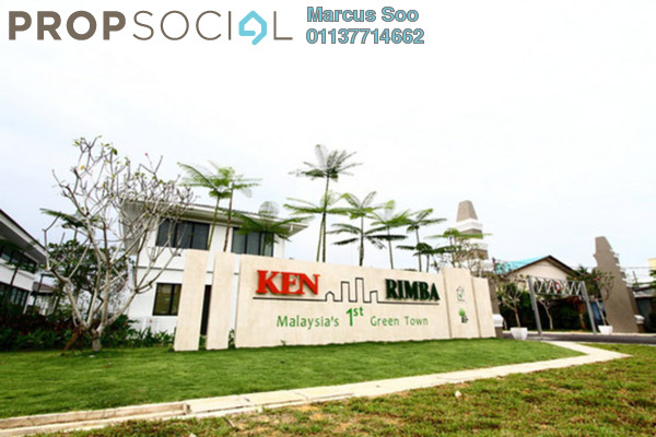For Sale Terrace at Ken Rimba, Shah Alam Freehold Semi Furnished 3R/3B 600k