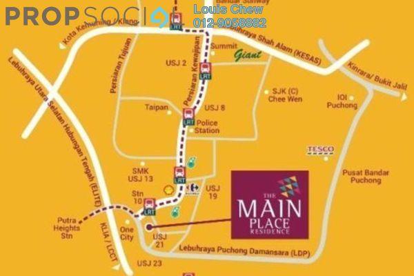 For Sale Condominium at Main Place Residence, UEP Subang Jaya Freehold Semi Furnished 3R/2B 488k