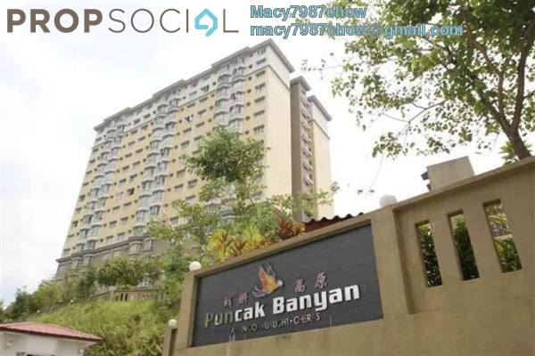 For Rent Condominium at Puncak Banyan, Cheras Freehold Semi Furnished 3R/2B 1.3k