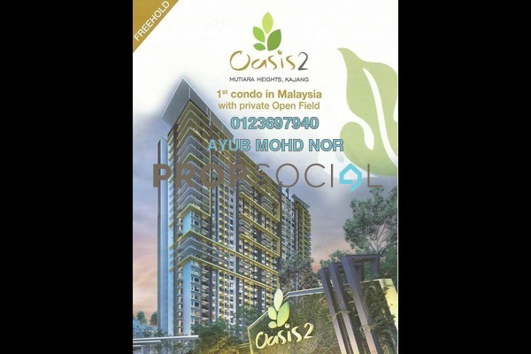 For Sale Condominium at Oasis 1 @ Mutiara Heights, Kajang Freehold Unfurnished 3R/2B 573k