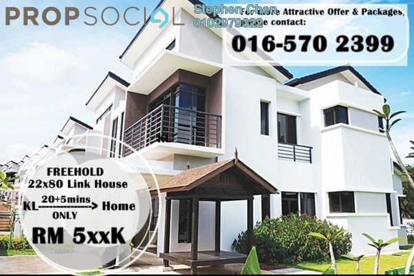 For Sale Superlink at Villa Park, Seri Kembangan Freehold Unfurnished 4R/4B 569k