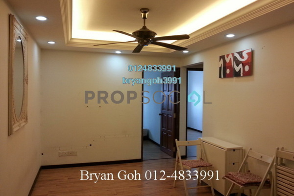 For Rent Apartment at Desa Pinang 2, Jelutong Leasehold Semi Furnished 3R/2B 1k