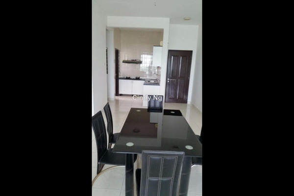 For Rent Serviced Residence at Casa Tiara, Subang Jaya Leasehold Semi Furnished 3R/2B 2.1k