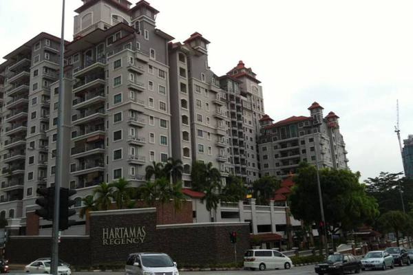 For Rent Condominium at Hartamas Regency 1, Dutamas Freehold Semi Furnished 3R/2B 2.9k