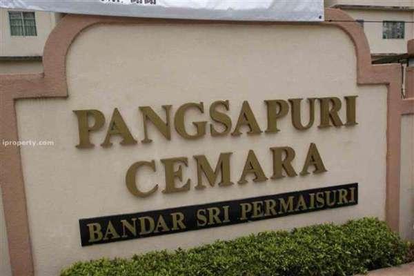 For Rent Apartment at Cemara Apartment, Bandar Sri Permaisuri Leasehold Unfurnished 3R/2B 1k