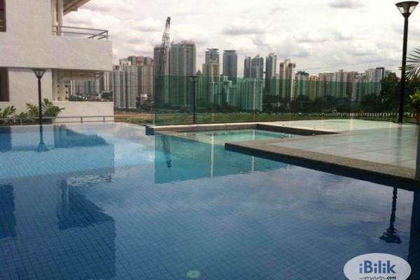 For Rent Condominium at Villa Orkid, Segambut Freehold Semi Furnished 3R/3B 2.4k
