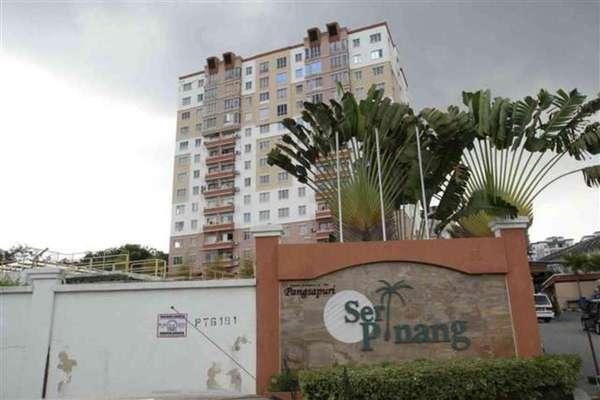 For Rent Apartment at Seri Pinang Apartment, Seri Kembangan Freehold Semi Furnished 3R/2B 950translationmissing:en.pricing.unit