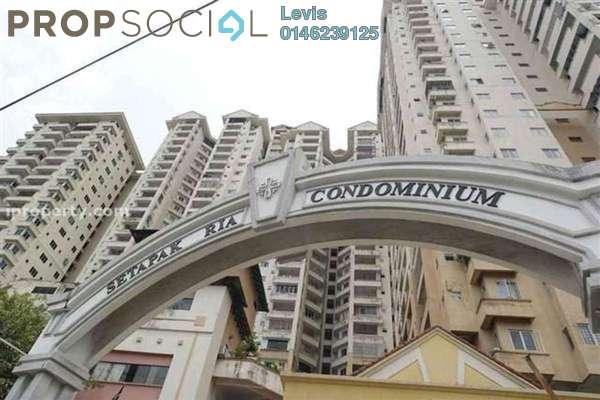 For Rent Condominium at Setapak Ria Condominium, Setapak Freehold Fully Furnished 3R/2B 1.3k
