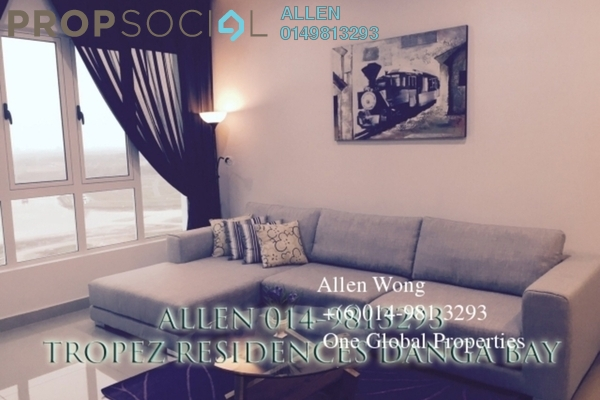 For Rent Condominium at Tropez Residences, Danga Bay Freehold Fully Furnished 2R/2B 2.2k