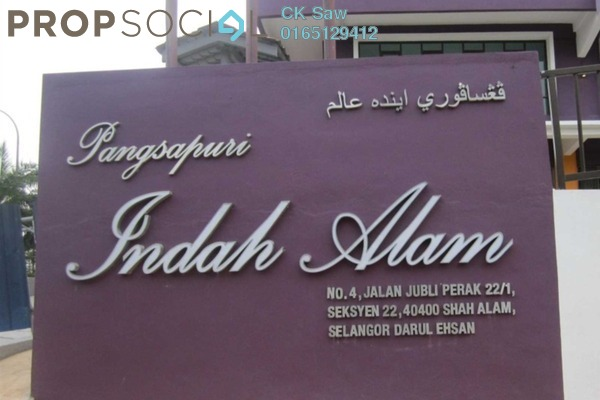For Rent Condominium at Indah Alam, Shah Alam Freehold Semi Furnished 2R/1B 1.1k