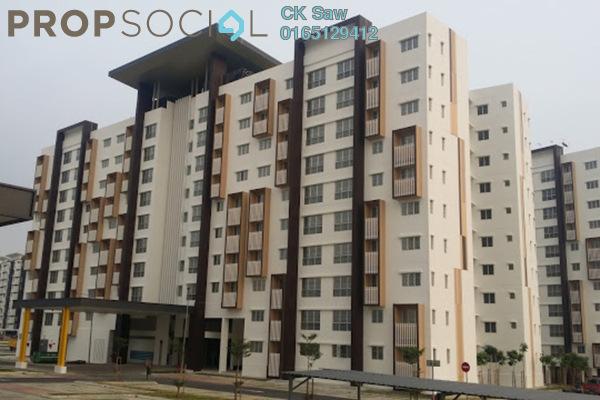 For Rent Condominium at Seri Pinang Apartment, Setia Alam Freehold Fully Furnished 3R/2B 1.3k