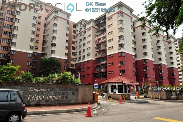 For Sale Condominium at Kelana Impian, Kelana Jaya Freehold Semi Furnished 3R/2B 430k