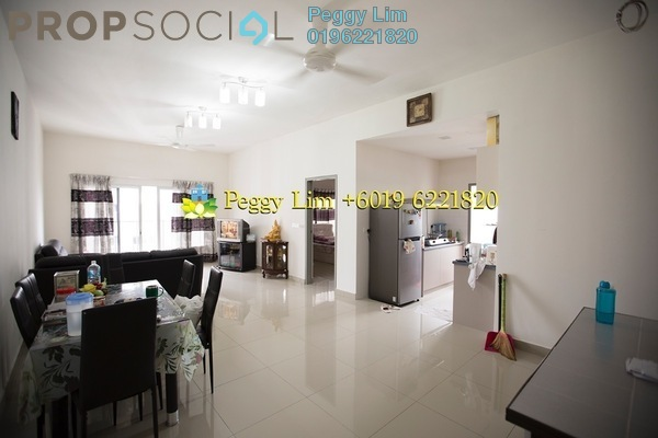 For Sale Serviced Residence at The Wharf, Puchong Leasehold Semi Furnished 4R/2B 458k