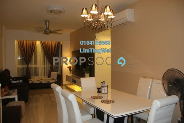 For Rent Condominium at Plaza Medan Putra, Bandar Menjalara Freehold Fully Furnished 3R/2B 1.4k