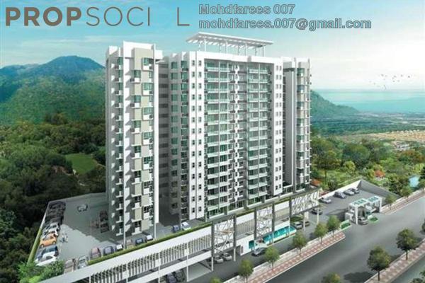 For Sale Condominium at D'Zone Condominium, Teluk Kumbar Freehold Unfurnished 4R/3B 630k