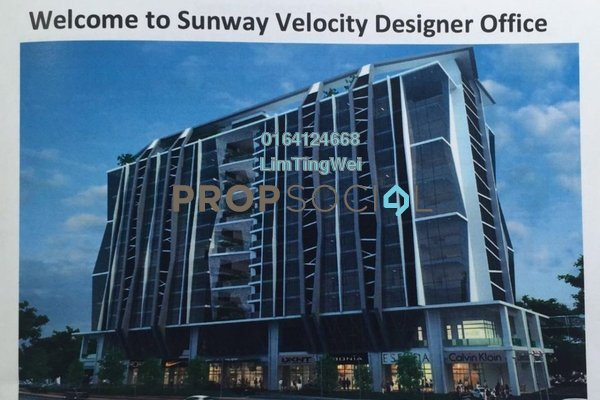 For Rent Office at Sunway VeloCity, Cheras Freehold Unfurnished 0R/1B 1.8k