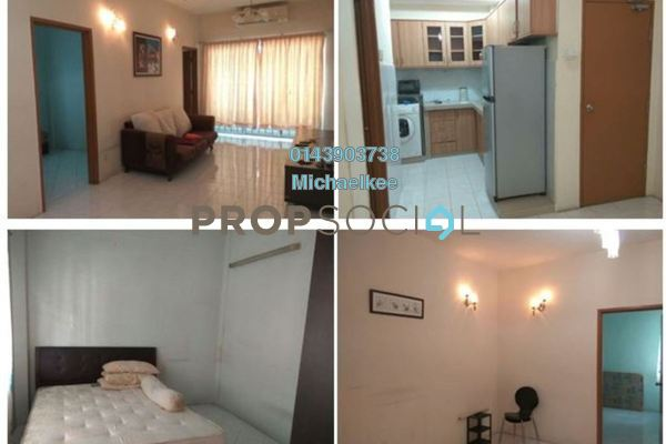 For Rent Apartment at Putra Indah Apartment, Bandar Putra Permai Leasehold Fully Furnished 4R/2B 1.1k