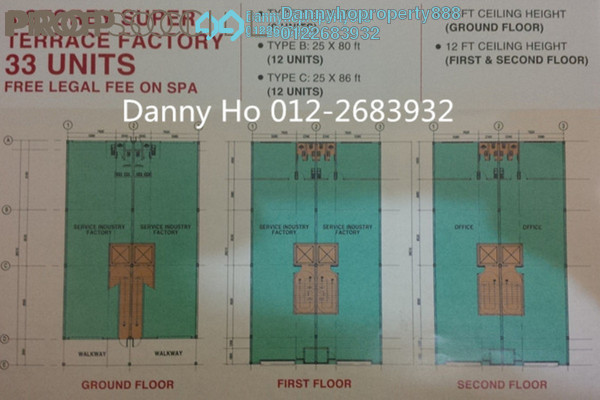 For Sale Factory at LCH Industrial Park, Klang Freehold Unfurnished 0R/0B 1.7m