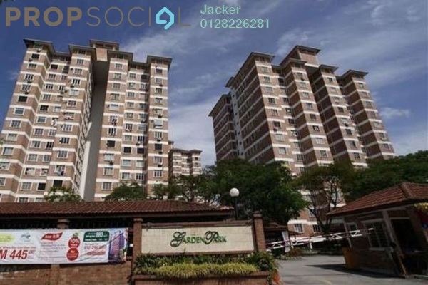 For Rent Condominium at Garden Park, Bandar Sungai Long Leasehold Semi Furnished 3R/2B 850translationmissing:en.pricing.unit